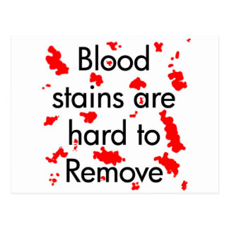 Blood Stains Post Cards
