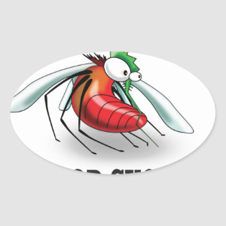 blood suckers insect oval sticker