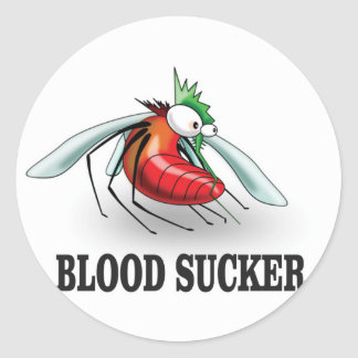 blood suckers insect round sticker