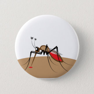 Blood sucking Insect 2 Inch Round Button