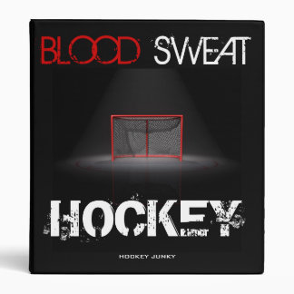 BLOOD SWEAT HOCKEY BINDER