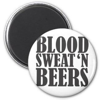 blood sweat n beers magnet