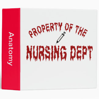Blood Thirsty Property of the Nursing Department 3 Ring Binder