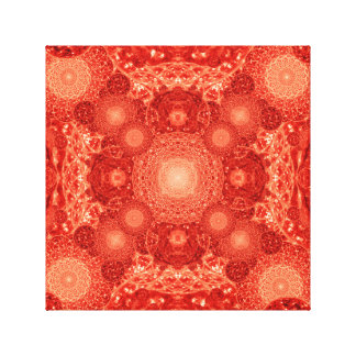 Blood Vessels Mandala Canvas Print