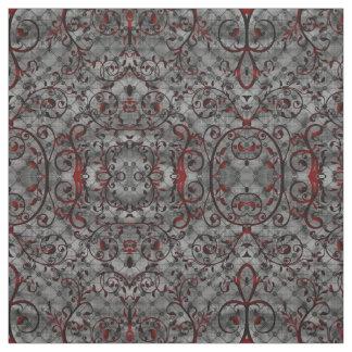 Blood Vine Damask Goth Pattern Fabric