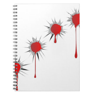 Blooded Bullet Holes Notebook