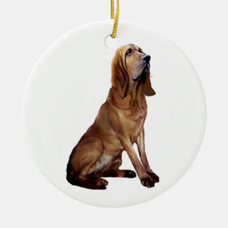 Bloodhound (B) - Sitting Ceramic Ornament
