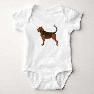 Bloodhound Basic Breed Illustration Silhouette Baby Bodysuit