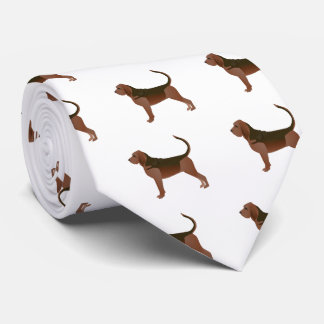 Bloodhound Basic Breed Illustration Silhouette Tie