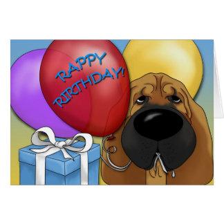 Bloodhound Birthday Card