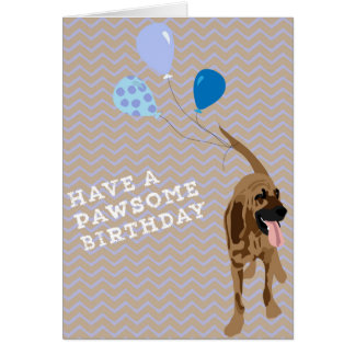 Bloodhound Birthday Card