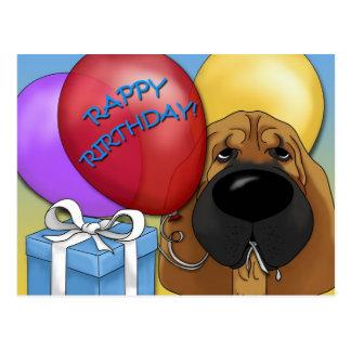 Bloodhound Birthday Postcard