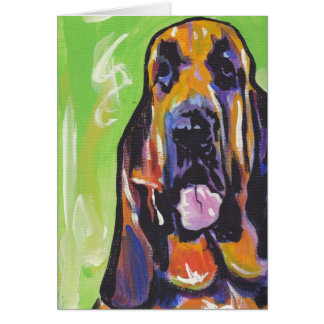 Bloodhound Bright Colorful Pop Dog Art Card