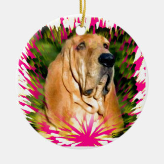 Bloodhound Ceramic Ornament