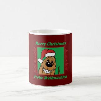 Bloodhound Christmas Coffee Mug
