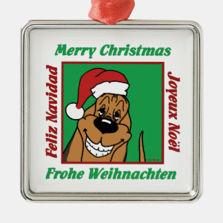 Bloodhound Christmas Metal Ornament
