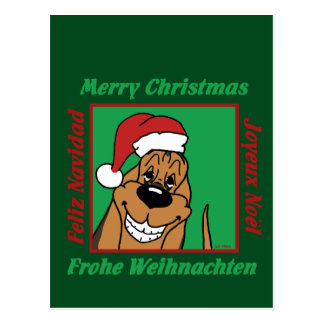 Bloodhound Christmas Postcard