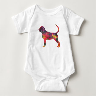 Bloodhound Colorful Geo Pattern Silhouette Multi Baby Bodysuit