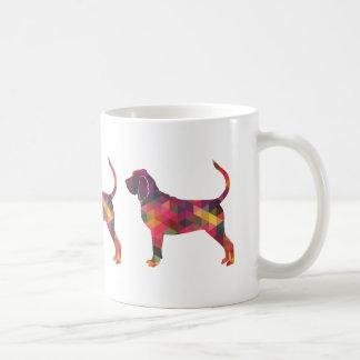 Bloodhound Colorful Geo Pattern Silhouette Multi Coffee Mug