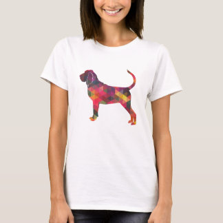 Bloodhound Colorful Geo Pattern Silhouette Multi T-Shirt