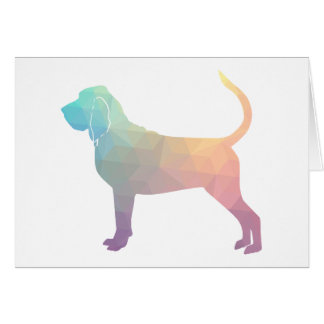 Bloodhound Colorful Geo Pattern Silhouette Pastel Card