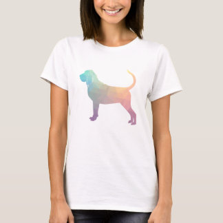 Bloodhound Colorful Geo Pattern Silhouette Pastel T-Shirt