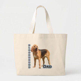 Bloodhound Dad 4 Jumbo Tote Bag