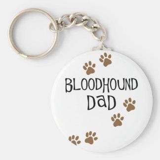 Bloodhound Dad Basic Round Button Keychain