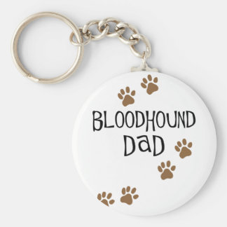 Bloodhound Dad Keychain