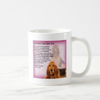 Bloodhound Dog Design & Brother Poem Coffee Mug