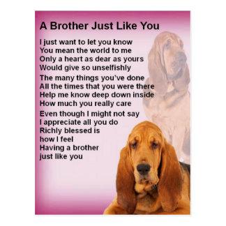 Bloodhound Dog Design & Brother Poem Postcard