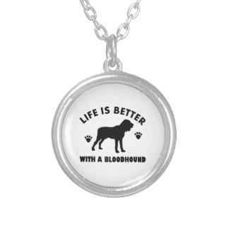 bloodhound dog design silver plated necklace