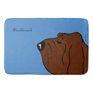 Bloodhound Head Bath Mat