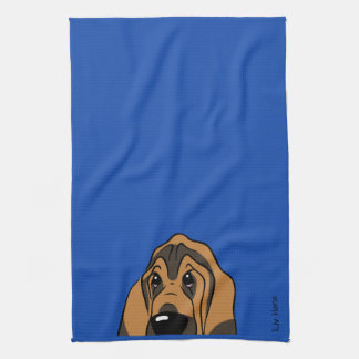 Bloodhound head kitchen towel