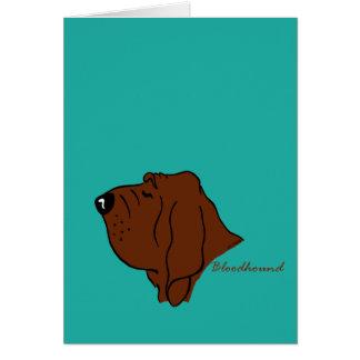 Bloodhound head silhouette card