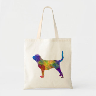 Bloodhound in watercolor tote bag