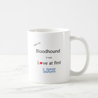 Bloodhound Love at First Lick Coffee Mug