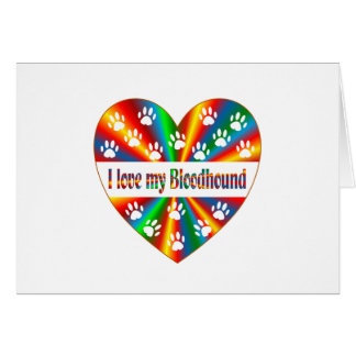 Bloodhound Love Card