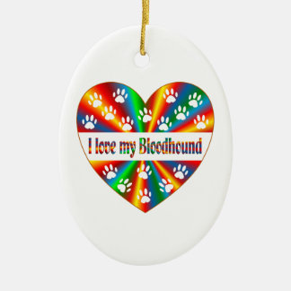 Bloodhound Love Ceramic Ornament