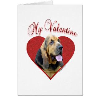 Bloodhound My Valentine Card