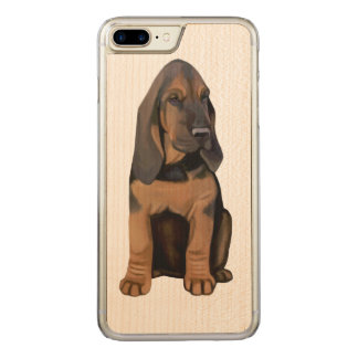 Bloodhound Puppy Carved iPhone 7 Plus Case