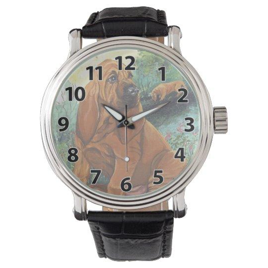 Bloodhound Puppy Dreamer Wristwatch
