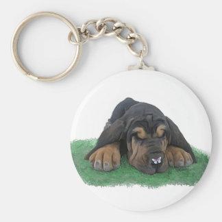 bloodhound puppy keychain