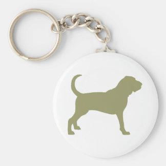 Bloodhound (sage green) basic round button keychain