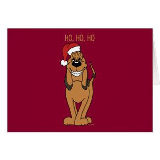 Bloodhound Santa Card