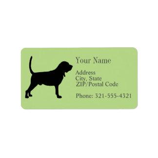 Bloodhound Silhouette Label