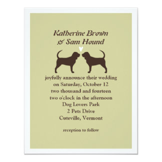 Bloodhound Silhouettes Wedding Invitation