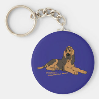 Bloodhound - Simply the best! Basic Round Button Keychain