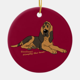 Bloodhound - Simply the best! Round Ceramic Ornament