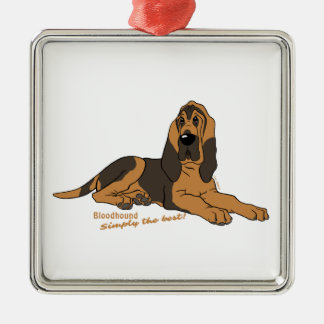 Bloodhound - Simply the best! Silver-Colored Square Ornament